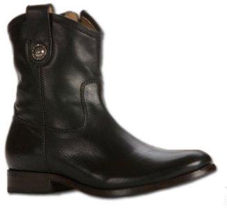 Frye Melissa Button Short Ankle Boot - Black