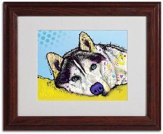Trademark fine art 11'' x 14'' ''Siberian Husky II'' Framed Canvas Wall Art