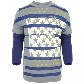 Hudson Fore!! Axel & Gray Stars and Stripes Tee