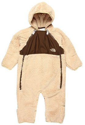 The North Face Kids - Plushee Fleece Bunting 12 (Infant) (Sandy Beige/Burrow Brown) - Apparel