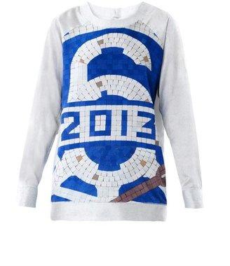 Maison Margiela Mosaic-print silk sweatshirt