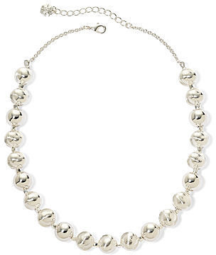 JCPenney MONET JEWELRY Monet Silver-Tone Bead Collar Necklace