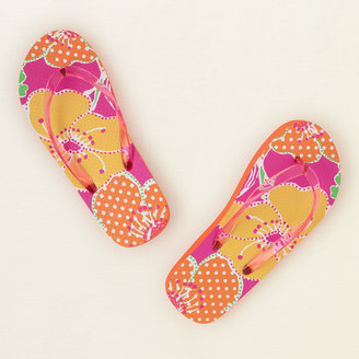Children's Place Tropical flower flip flops