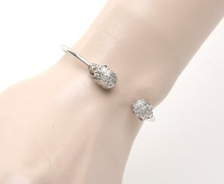 Luis Morais Skull Diamond Cuff Bracelet