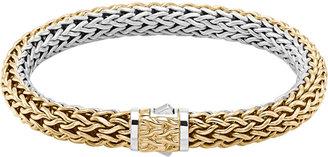 John Hardy Classic Chain Medium Reversible Silver & Gold Bracelet
