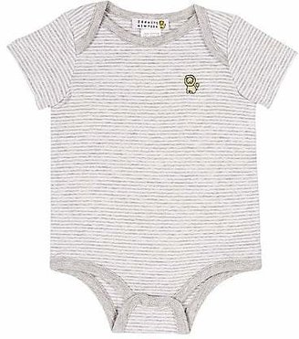 Barneys New York Infants' Striped Bodysuit - Gray