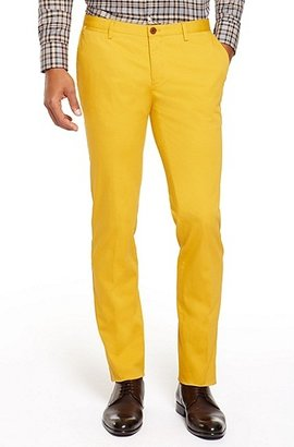 HUGO BOSS Stanino Slim Fit, Stretch Cotton Dress Pants - Open Yellow