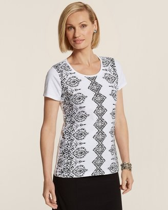 Isabella Collection Zenergy Vertical Placed Print Tee