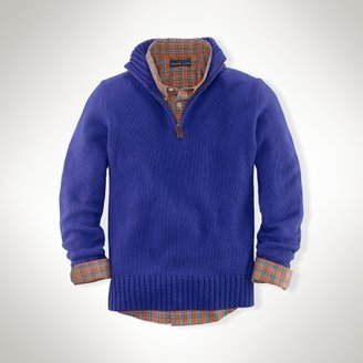 Cashmere Half-Zip Pullover