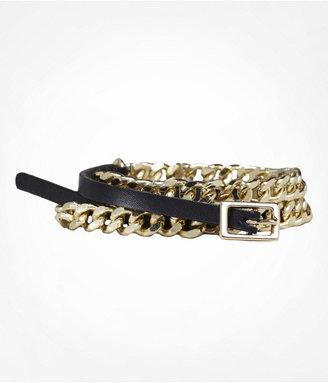 Express Curb Chain Skinny Belt