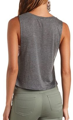 Charlotte Russe Embellished Hamsa Hand Graphic Muscle Tee