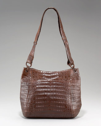 Nancy Gonzalez Crocodile Bucket Messenger Bag