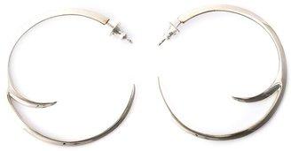 Shaun Leane sterling silver Cat Claw Statement hoop earrings