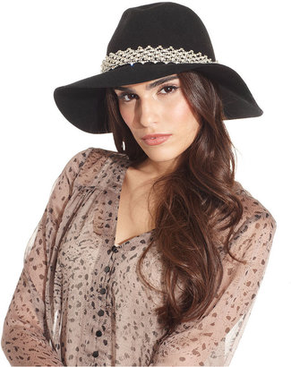 Juicy Couture Hat, Floppy Fedora with Embellished Band