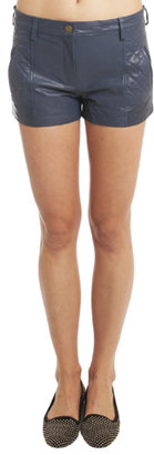 Thakoon Quilted Leather Shorts