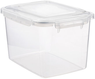 Container Store 16.91 qt. Smart Locks Keep Box Crystal Clear
