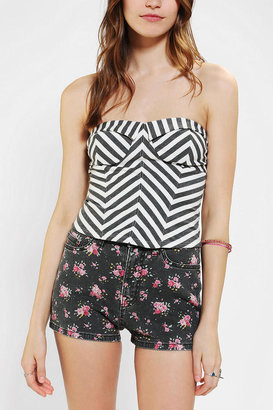 Urban Outfitters Pins And Needles Chevron Stripe Strapless Top