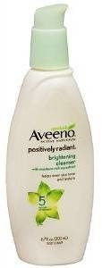 Aveeno Positively Radiant Cleanser, with moisture-rich soy extracts