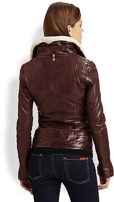 Mackage Veruca Leather Bomber Jacket