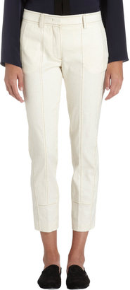 Derek Lam Contrast Stitched Cropped Slim Trousers
