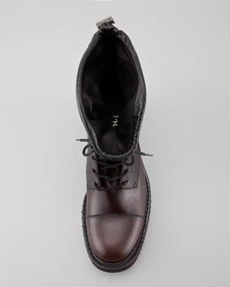 Prada Leather Cap-Toe Boot