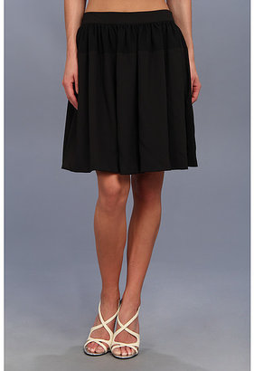 Calvin Klein Chiffon Detail Pleated Circle Skirt