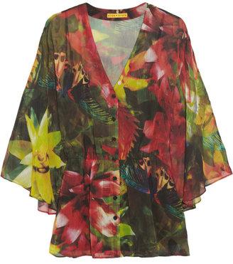 Alice + Olivia Macall floral-print georgette top