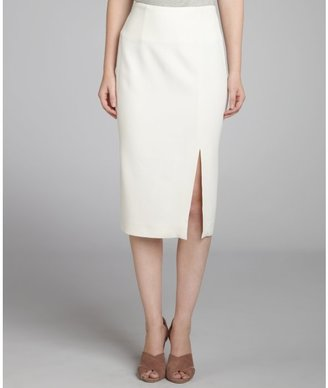Alexander McQueen white side zip pencil skirt