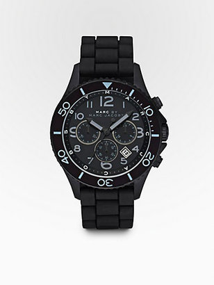Marc by Marc Jacobs Marine Chronograph Watch/Black Silicone