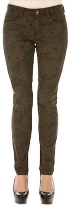 Kensie JEANS Super Stretch Soft Touch Floral Sateen Ankle Jeans