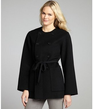 Marc by Marc Jacobs black and charcoal wool reversible belted 'Raleigh' coat