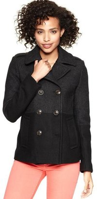 Gap Two-tone classic pea coat