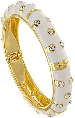 Kenneth Jay Lane FINE JEWELRY KJL by 22K Gold-Plated Crystal Bangle