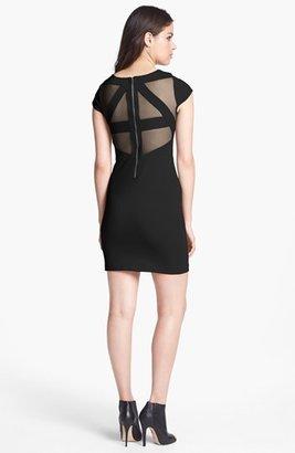 BB Dakota 'Edgemont' Illusion Cutout Ponte Knit Minidress
