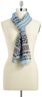 BCBGMAXAZRIA Patterned Silk Scarf
