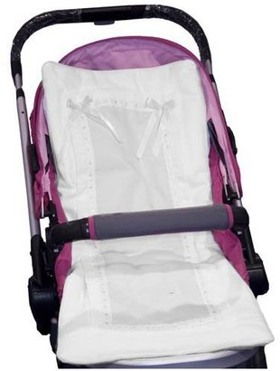 Baby Doll Bedding Stroller Covers - White