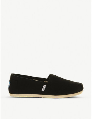Toms Mens Black Classic Canvas Shoes, Size: EUR 41 / 7 UK MEN