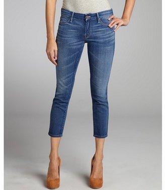 Mother slate blue stretch denim 'The Looker' skinny jeans