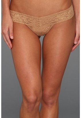Hanky Panky Shimmer Lace Low Rise Thong (Copper) - Apparel