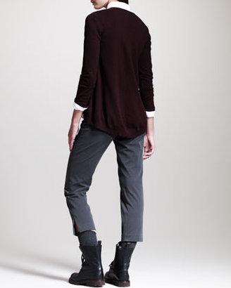 Brunello Cucinelli Side-Slit Cropped Pants