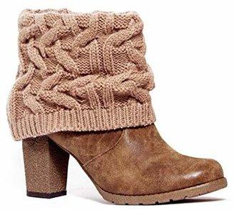 Muk Luks Women's Chris Knit Cuff Chunky Sole Boot
