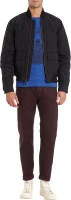 Spiewak Black Flight Jacket With Zip Front