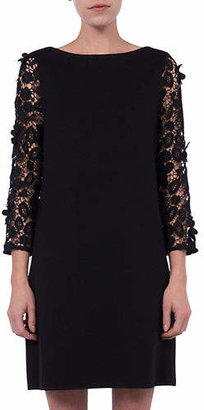 French Connection Lace Sleeve Shift Dress