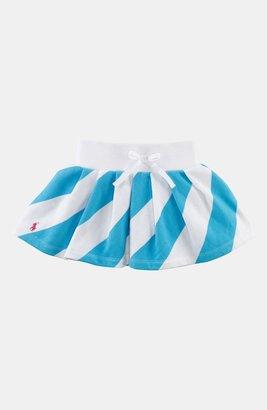 Ralph Lauren Stripe Pleated Skirt (Toddler) Vineyard Green Multi 2T