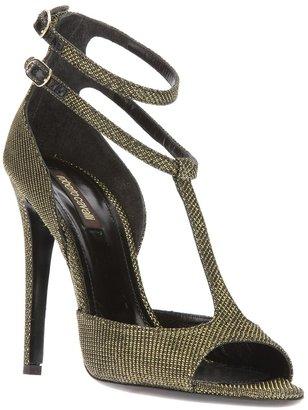 Roberto Cavalli textured t-bar sandal