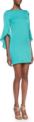 Milly Butterfly-Sleeve Sheath Dress