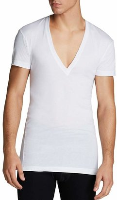 2(X)IST Pima Cotton Slim Fit Deep V-Neck Tee $28 thestylecure.com