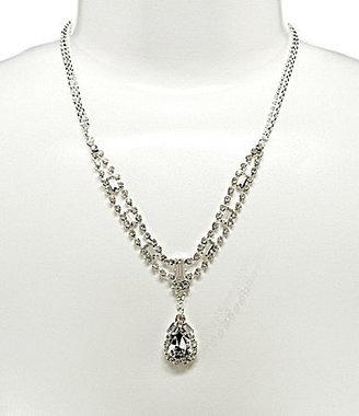 Cezanne Crystal Baguette Drop Pendant Necklace