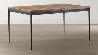 Crate & Barrel Reclaimed Wood Top/ Hammered Base 72x42 Dining Table