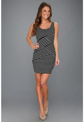 Type Z Silba Stripe Dress (Black) - Apparel